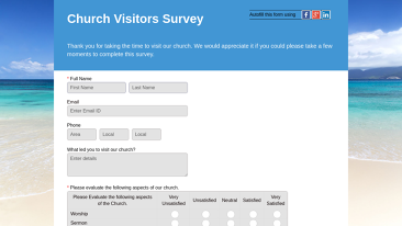 Visitor Feedback Form Templates | Non Profit form templates