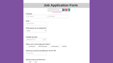 job application form 237