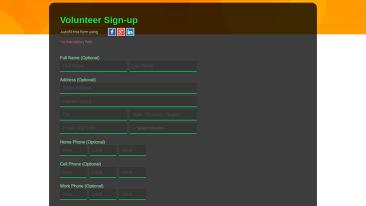 Volunteer Application Form Templates Non Profit Form Templates For Salesforce