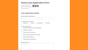 Loan Application Form Templates | Real Estate form templates for ...