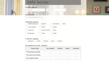 Cafe Survey