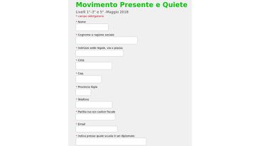 Movimento Presente e Quiete