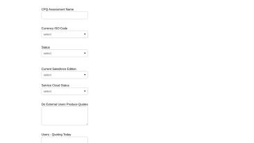 CPQ Assessment form